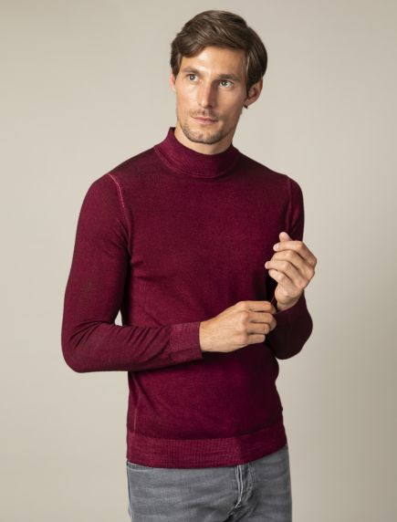 Turtolo Garment Dye Turtleneck