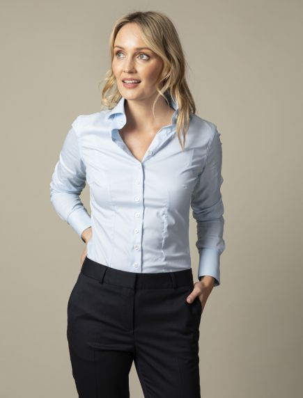 Light Blue NOS Business Blouse